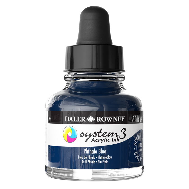 System 3 Ink 29.5ml Phthalo Blue