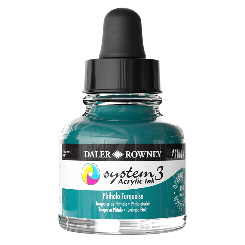 System 3 Ink 29.5ml Phthalo Turquoise