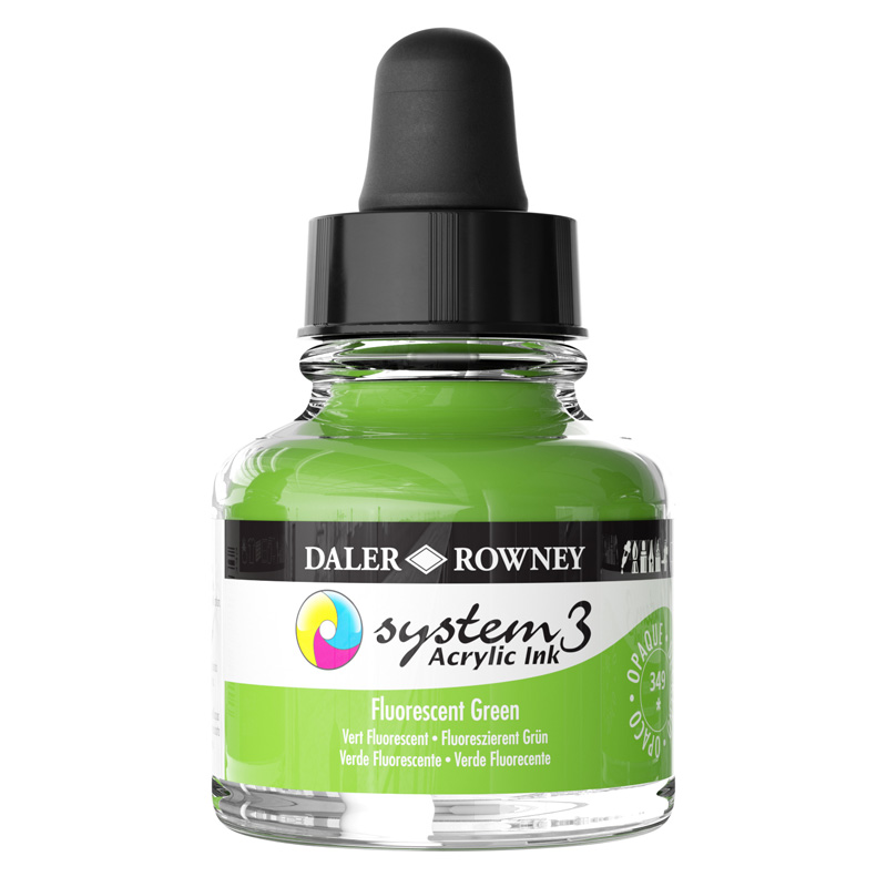 System 3 Ink 29.5ml Fluorescent Green
