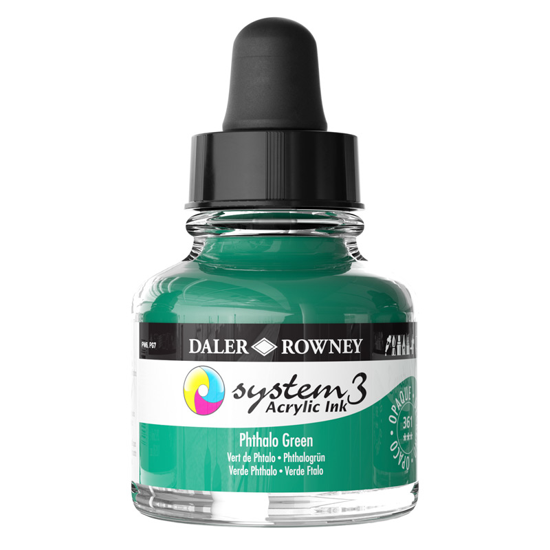 System 3 Ink 29.5ml Phthalo Green