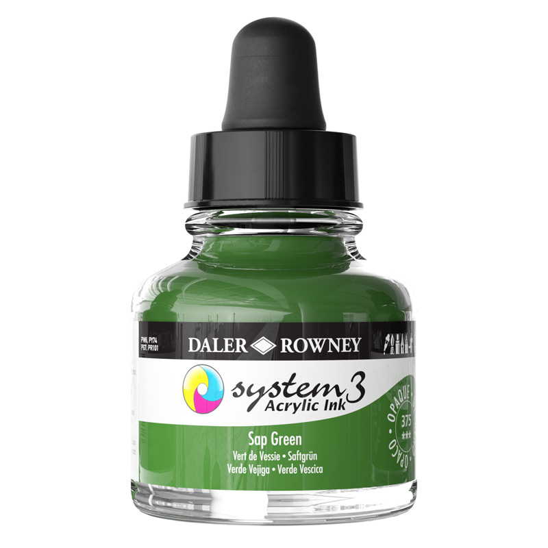 System 3 Ink 29.5ml Sap Green