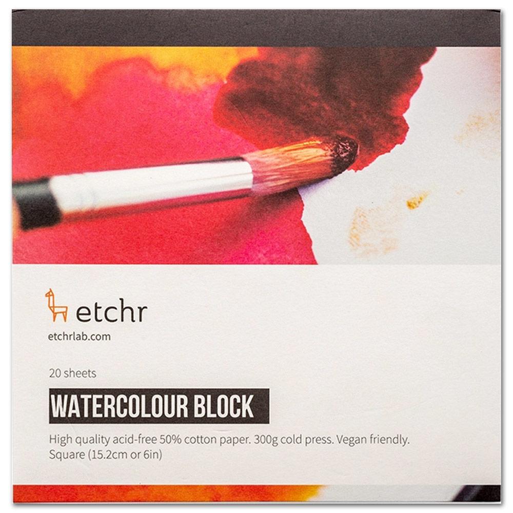 "Etchr Watercolor Paper Block 6"" Square"