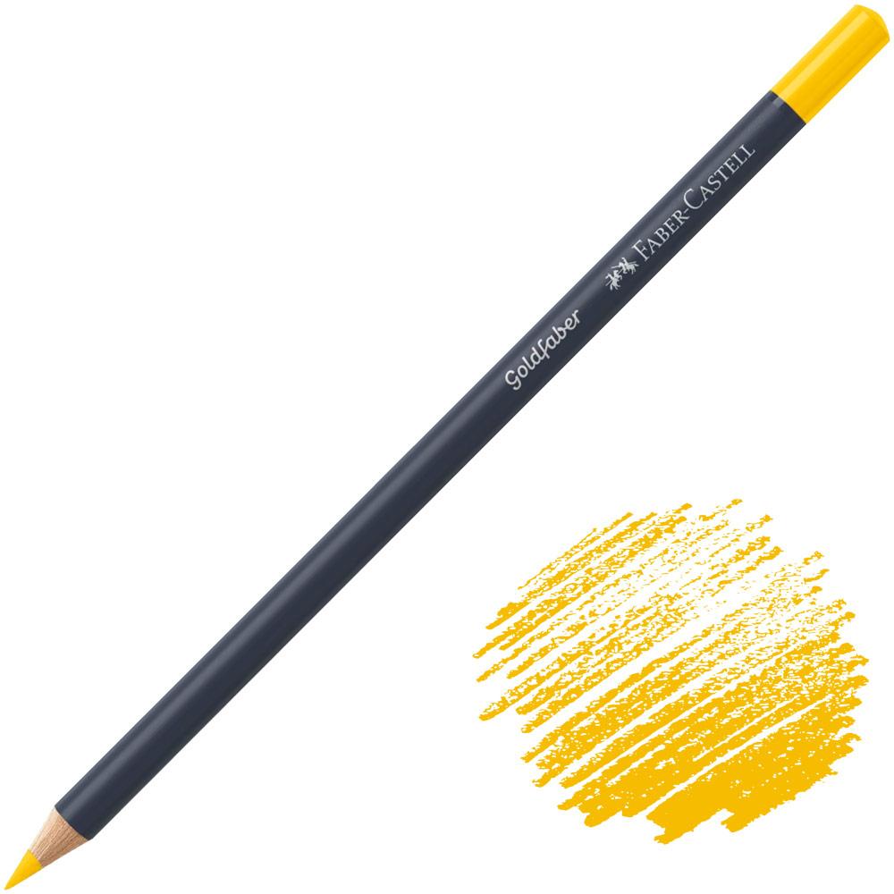 Faber-Castell Goldfaber Color Pencil - Dark Cadmium Yellow