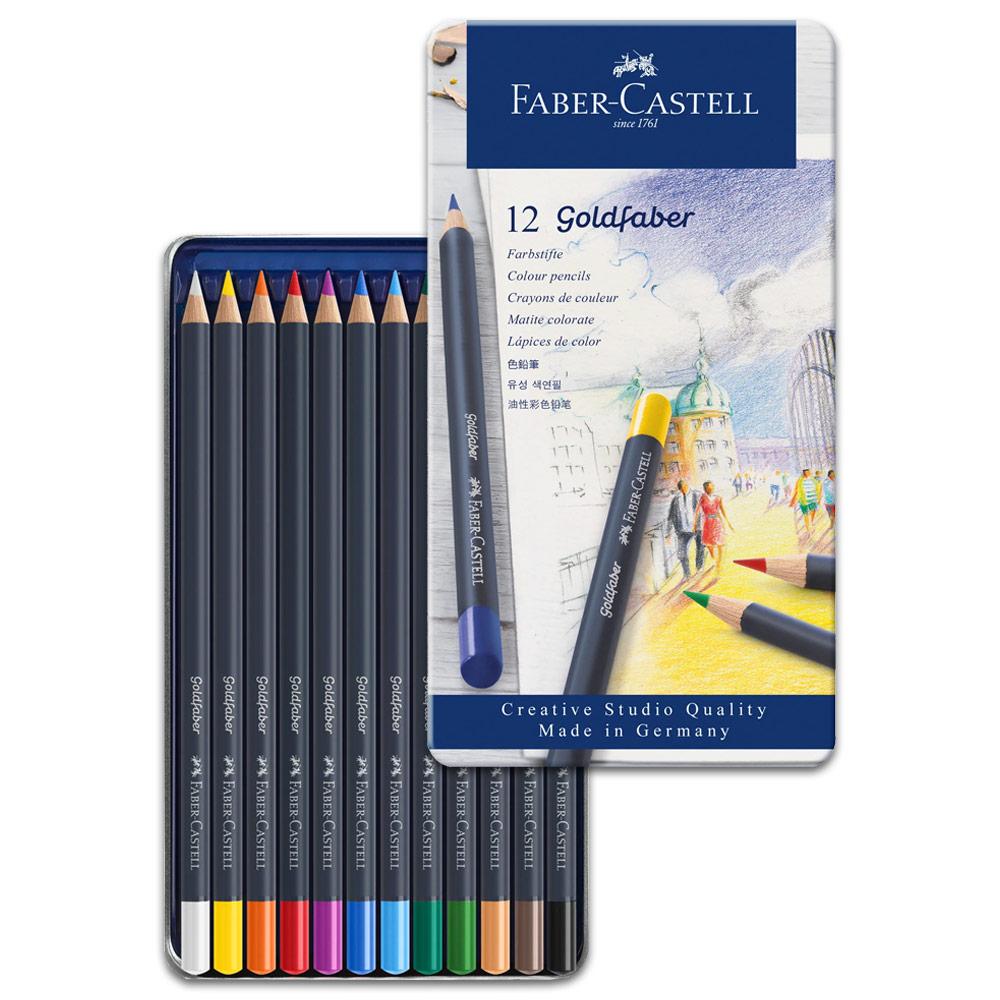 Faber-Castell Goldfaber Color Pencil - 12 Tin Set