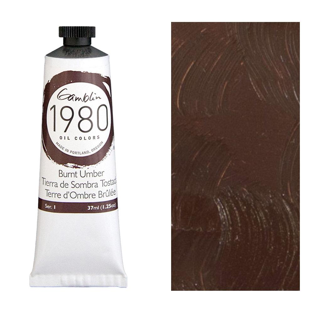 GAMBLIN 1980 37ml BURNT UMBER