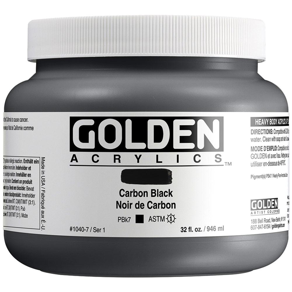 GOLDEN 32oz CARBON BLACK