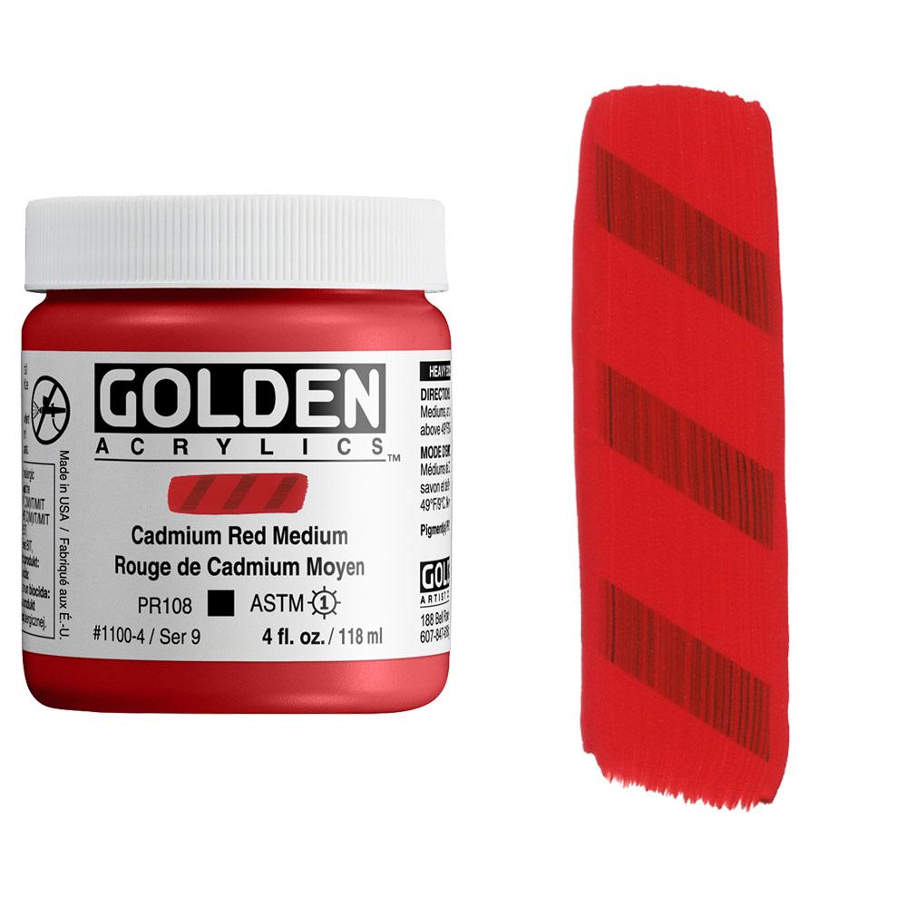 GOLDEN 4oz CP CAD RED MEDIUM