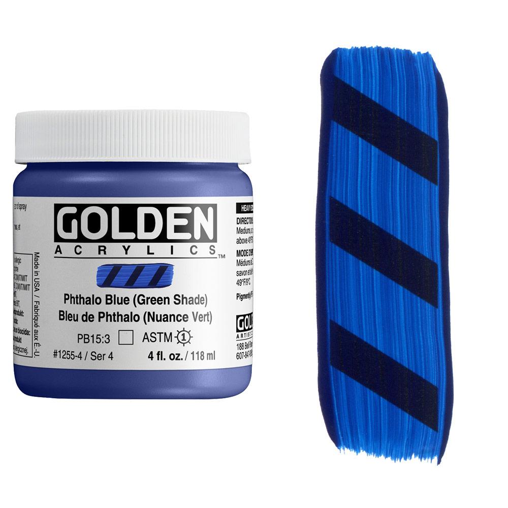 GOLDEN 4oz PHTHALO BLUE GS
