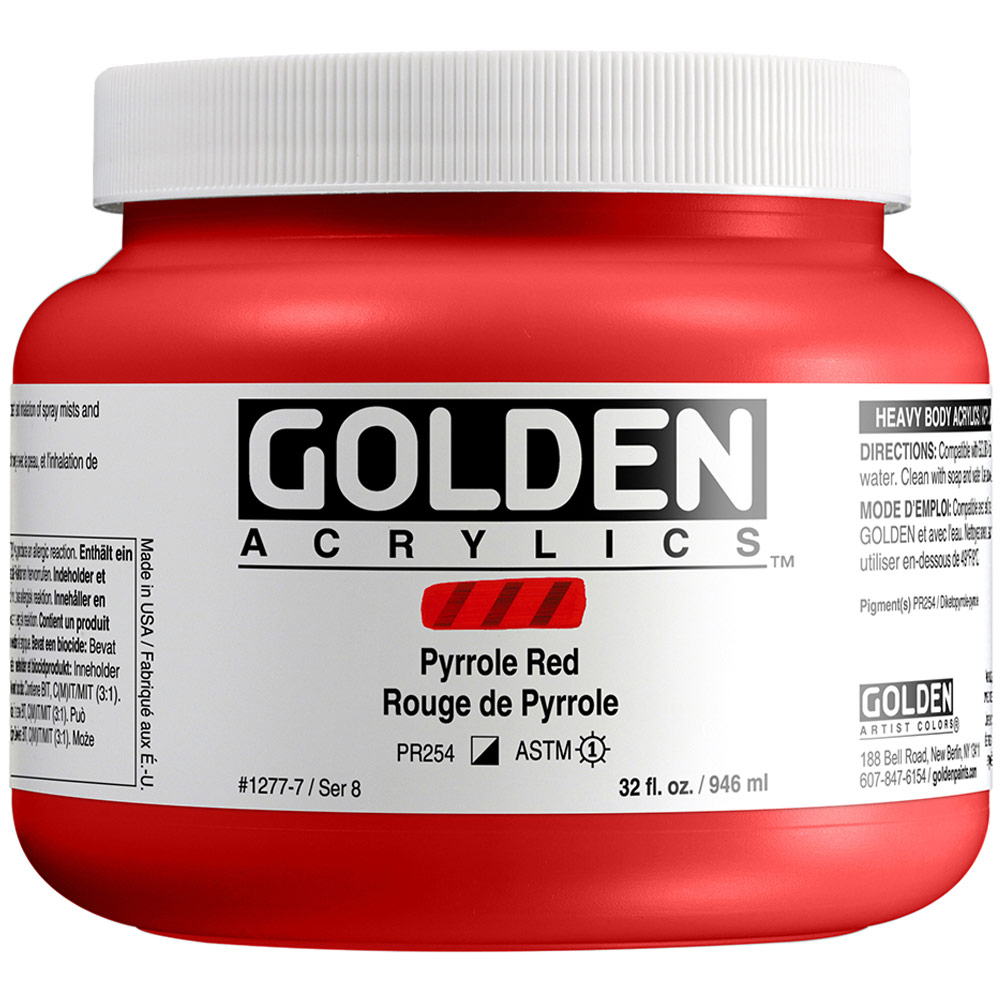 GOLDEN 32oz PYRROLE RED
