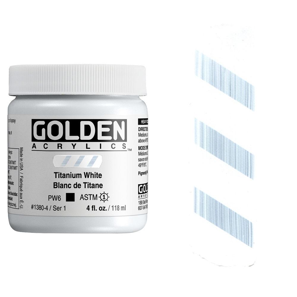 GOLDEN 4oz TITANIUM WHITE