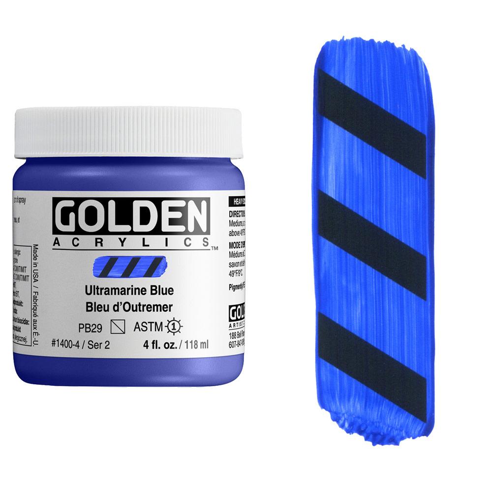 GOLDEN 4oz ULTRAMARINE BLUE