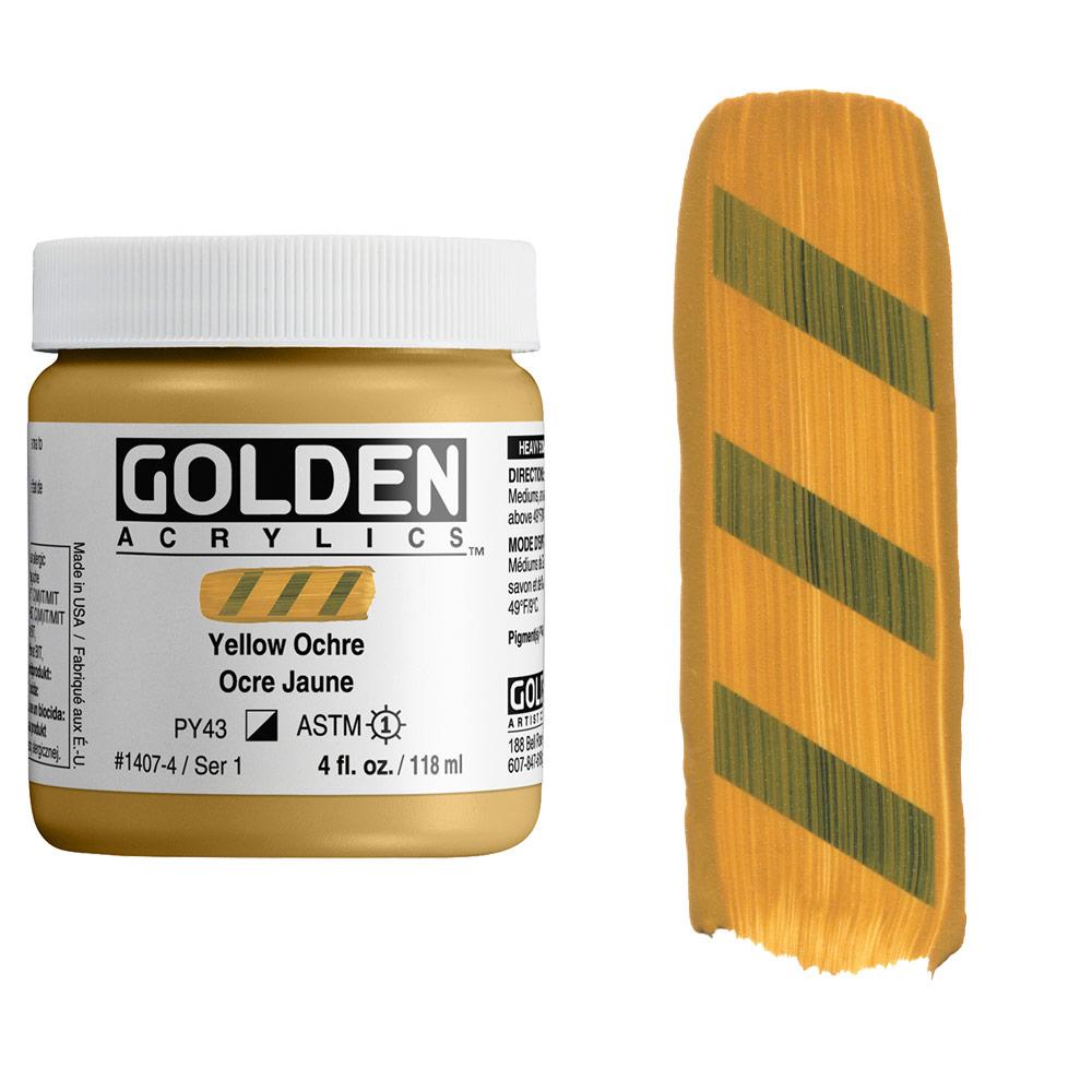 GOLDEN 4oz YELLOW OCHRE