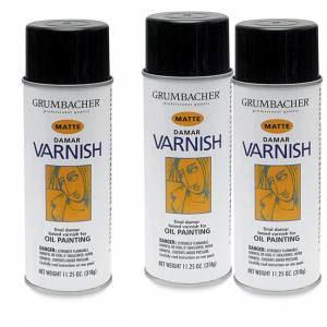 Damar Varnish Matte Spray Can 12oz