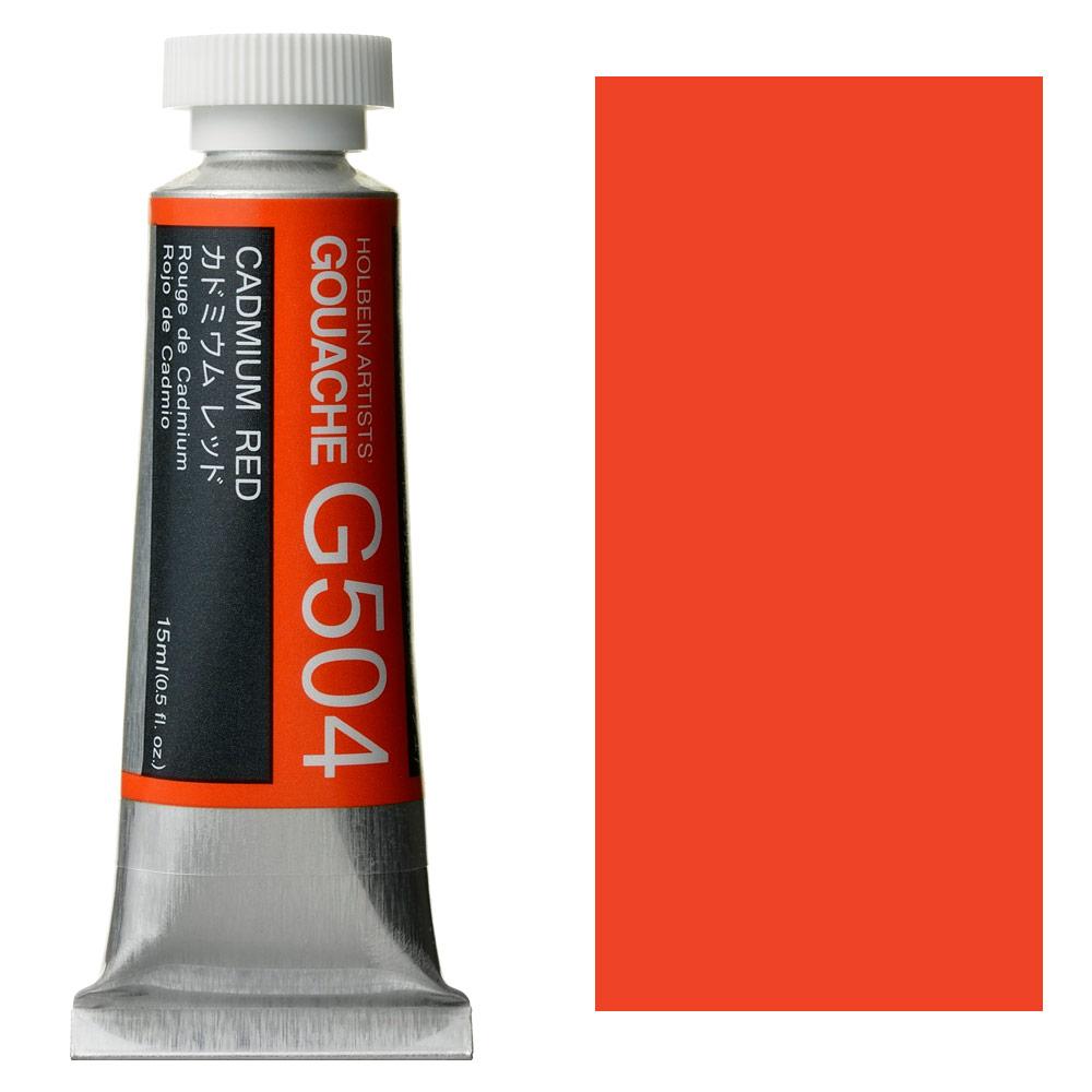 HOLBEIN GOUACHE 15ml CAD RED