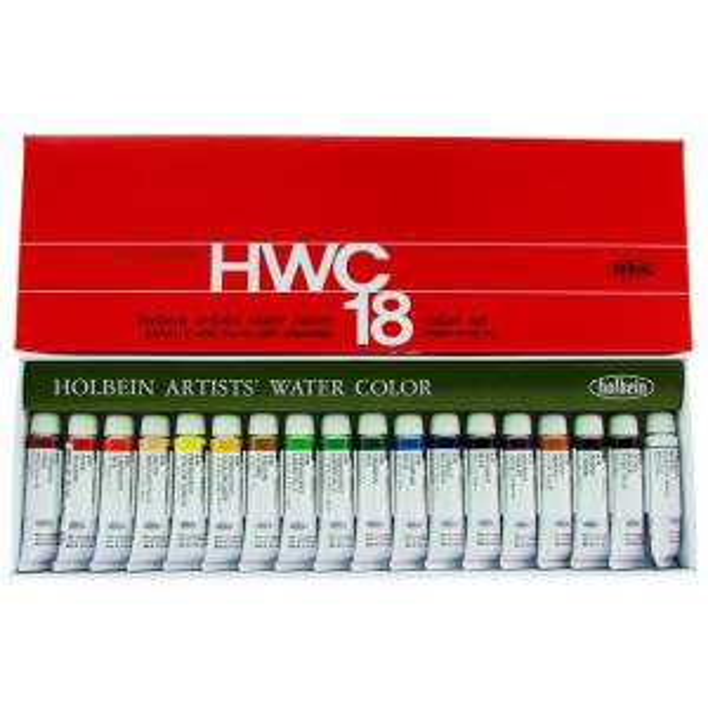 HOLBEIN ARTIST WC SET OF 18 5ml