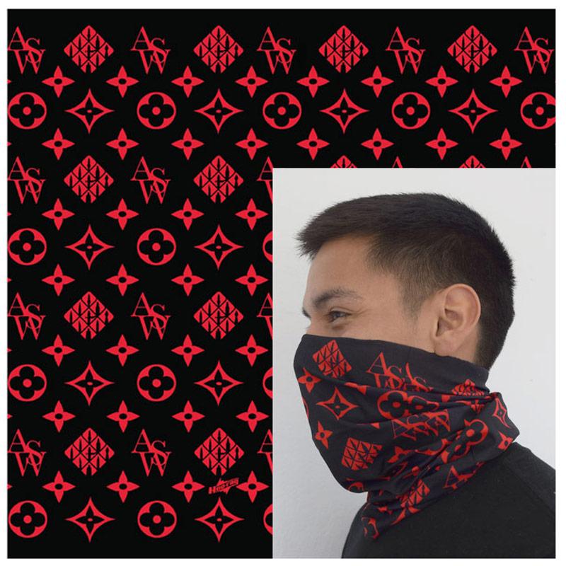 Gaiter Bandana ASW Style Red on Black