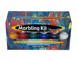 Jacquard Marbling Kit For Fabric and Paper (With Paints, Medium and Size)