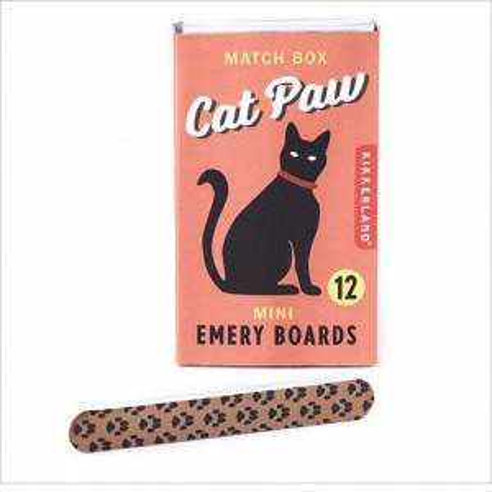Cat Paw Match Box Emery Boards