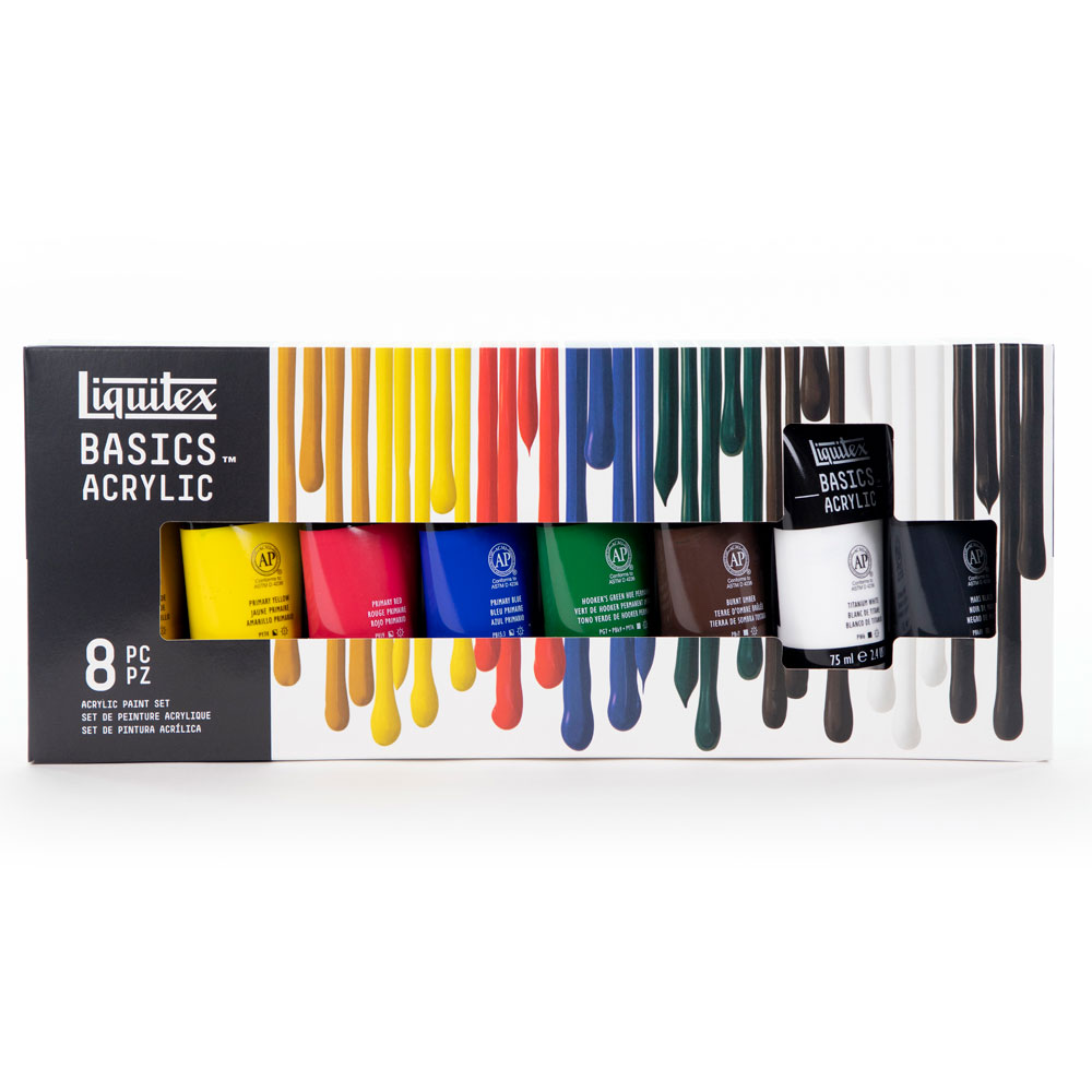 Liquitex BASICS Acrylic Paint Set - 8 Colors