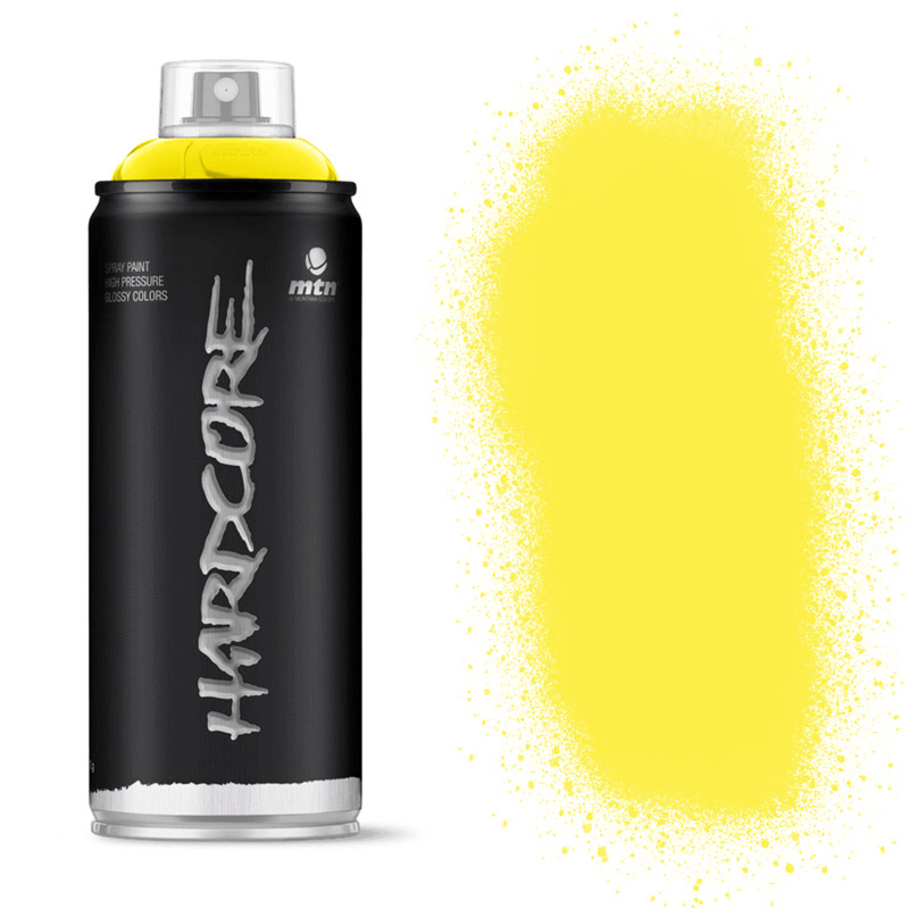 MTN Hardcore Spray Paint 400ml Party Yellow