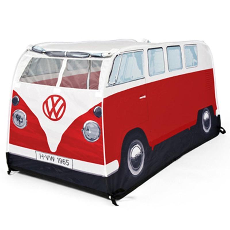 VW Camper Van Childrens Pop-Up Play Tent (Red)