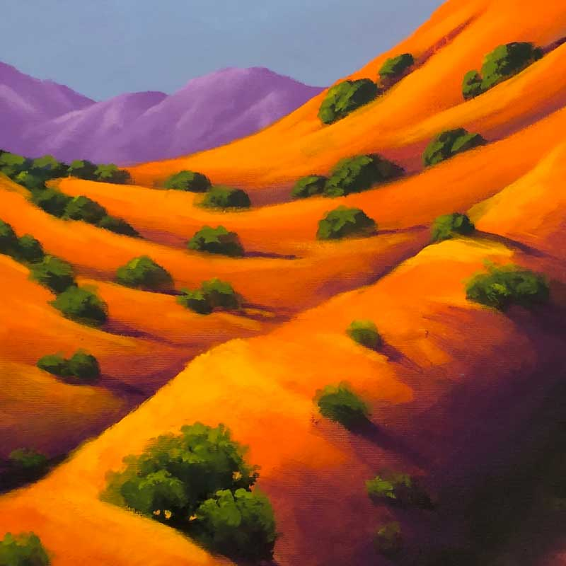 "On Demand Class: Acrylic Landscapes with Joe A Oakes ""Hillside Aglow"""