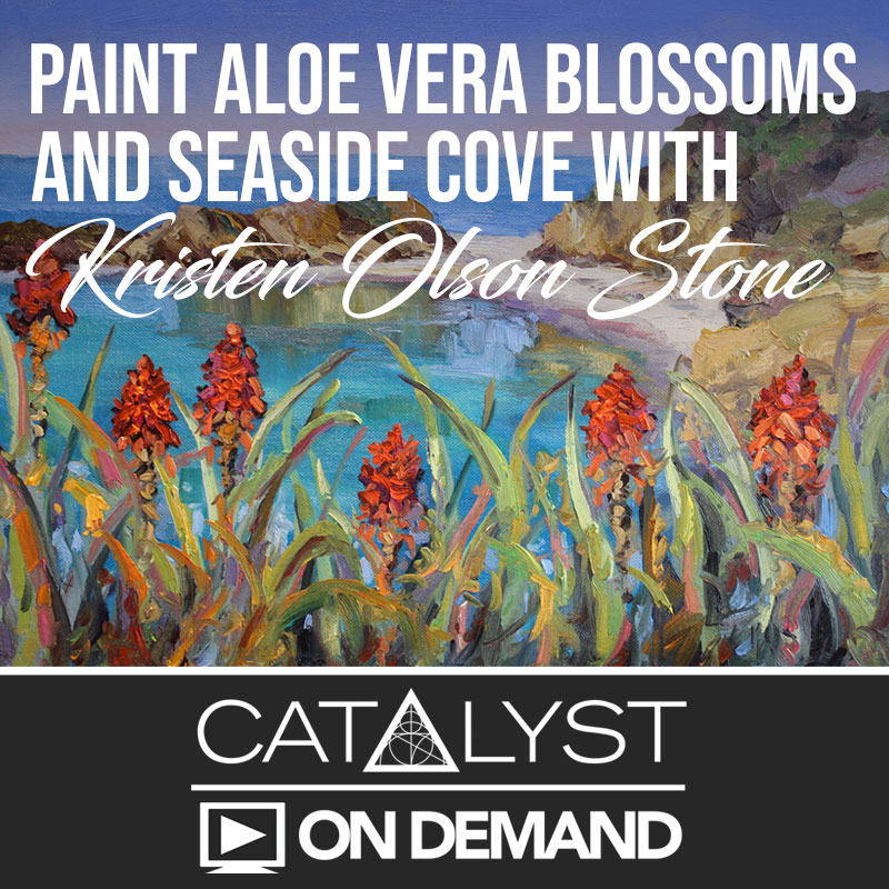 On Demand Class: Paint Aloe Vera Blossoms and Seaside Cove with Kristen