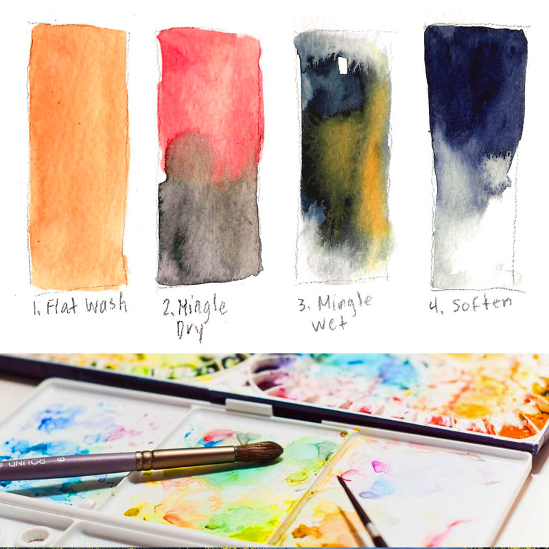 Live Online Class: Watercolor Basics with Anne Kupillas 10/11