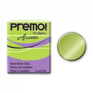 Premo! Accents Polymer Clay 2oz - Bright Green Pearl