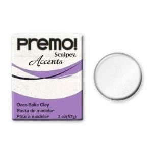 Premo! Accents Polymer Clay 2oz - White Glitter