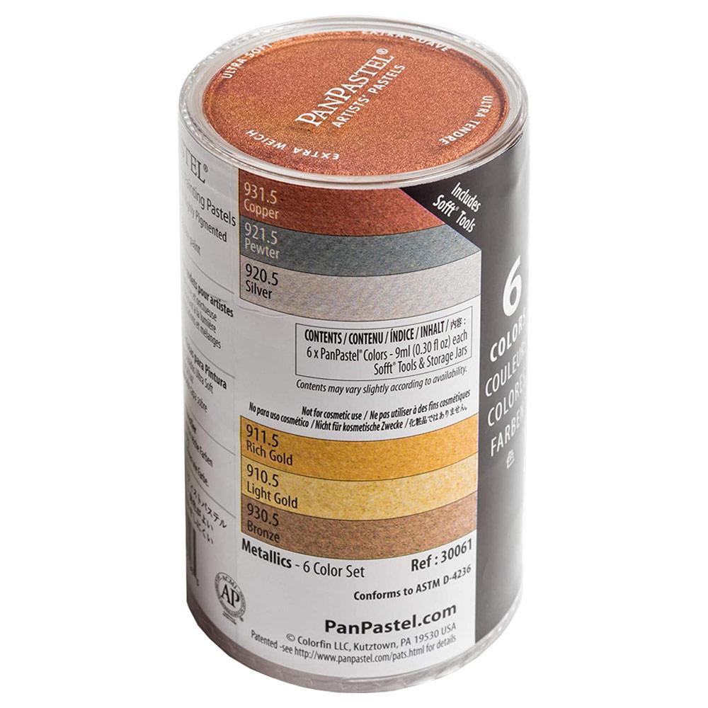 Panpastel Metallic Colors Full Set - 6 Pack