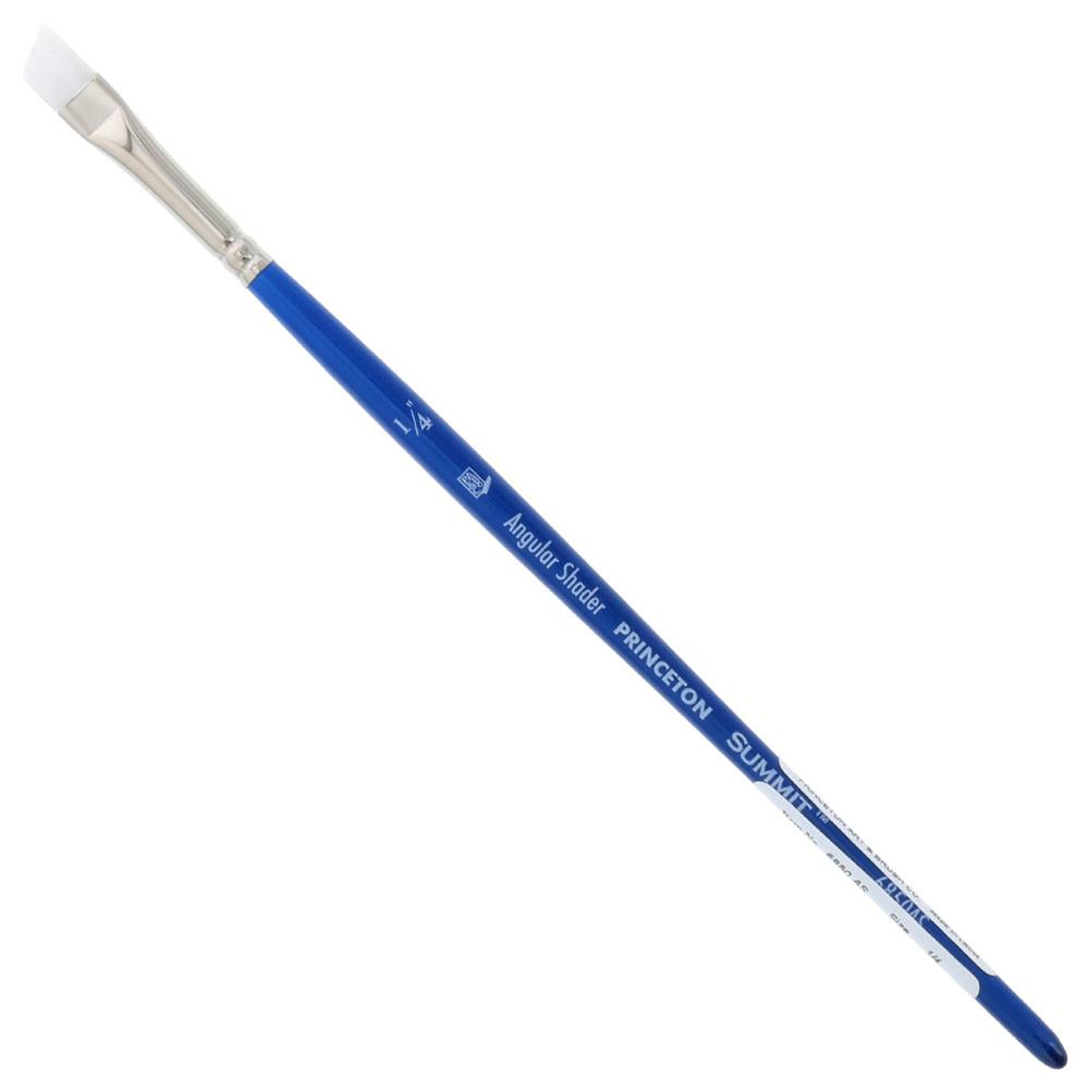 "Princeton Summit Series 6850 Synthetic Watercolor Brush - Angle Shader 1/4"""