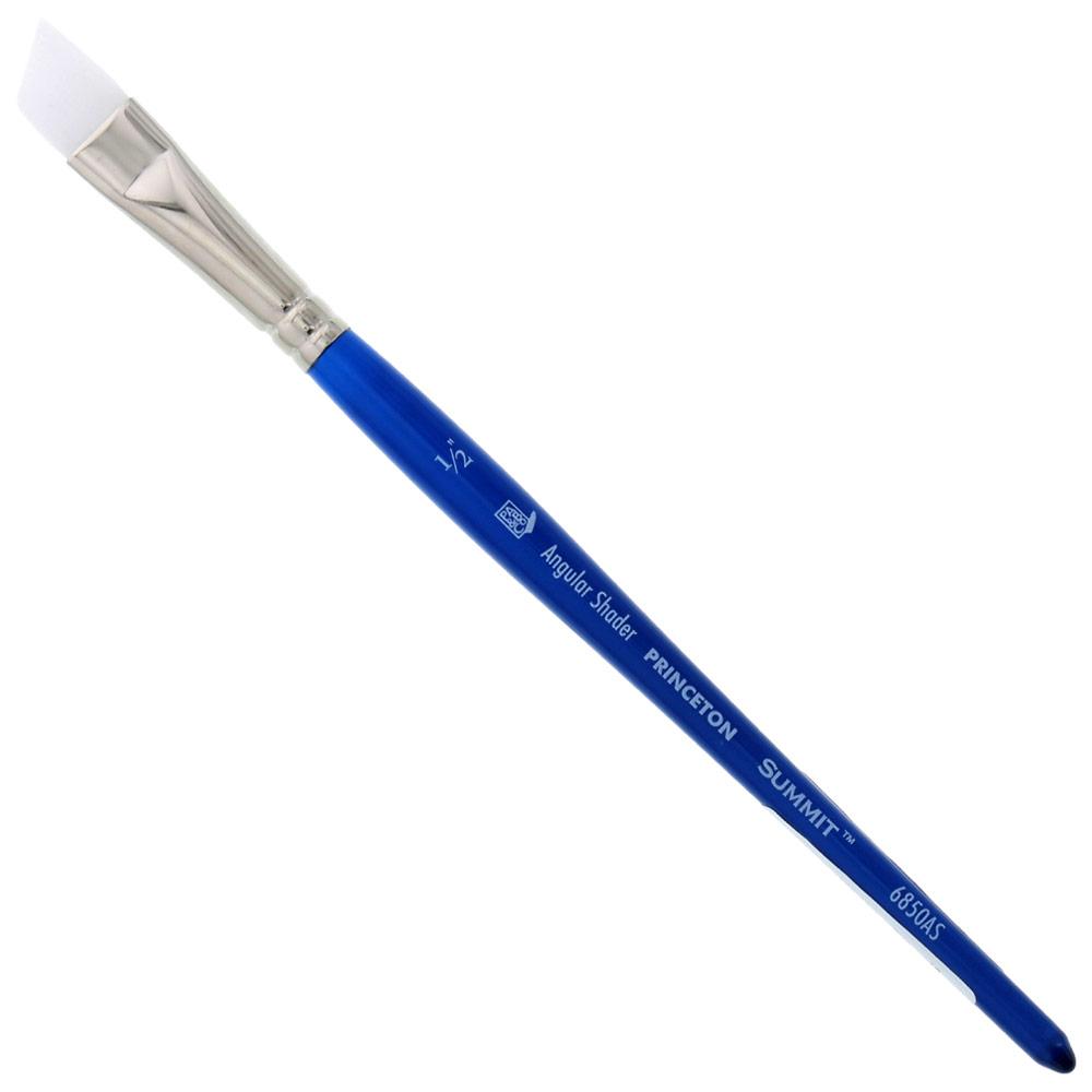 "Princeton Summit Series 6850 Synthetic Watercolor Brush - Angle Shader 1/2"""