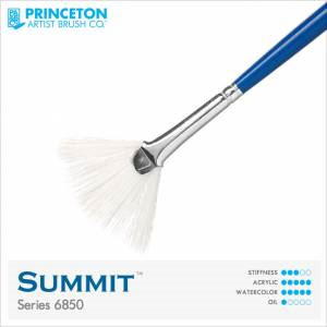 Princeton Summit Series 6850 Synthetic Watercolor Brush - Fan 4