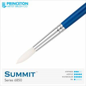 Princeton Summit Series 6850 Synthetic Watercolor Brush - Round 0