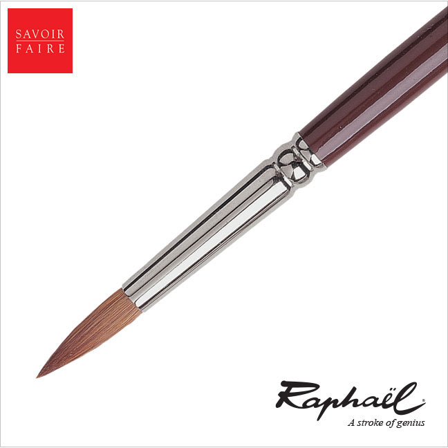 Raphael Fresco Long Handle Brush Red Sable - ROUND #12
