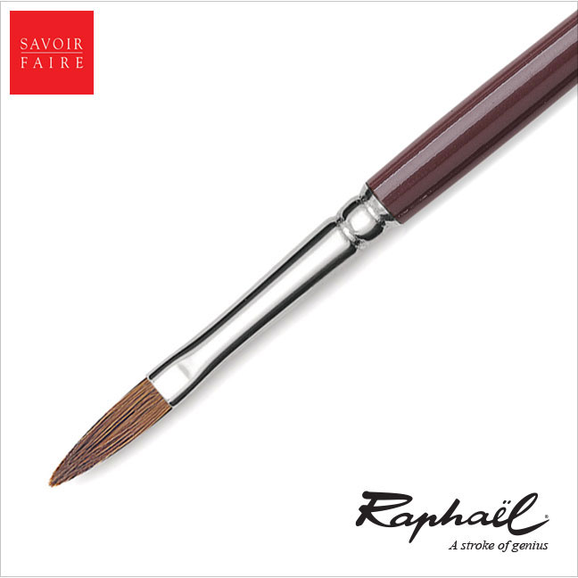 Raphael Fresco Long Handle Brush Red Sable - LONG FILBERT #2