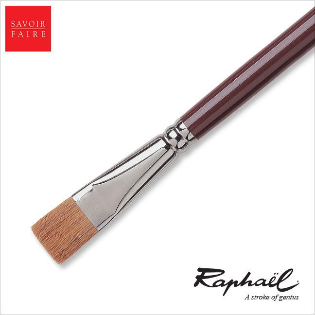 Raphael Fresco Long Handle Brush Red Sable - BRIGHT #6