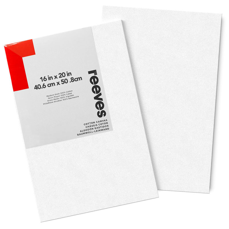 """Reeves Cotton Stretched Canvas 2-Pack 16"""" x 20"""""""