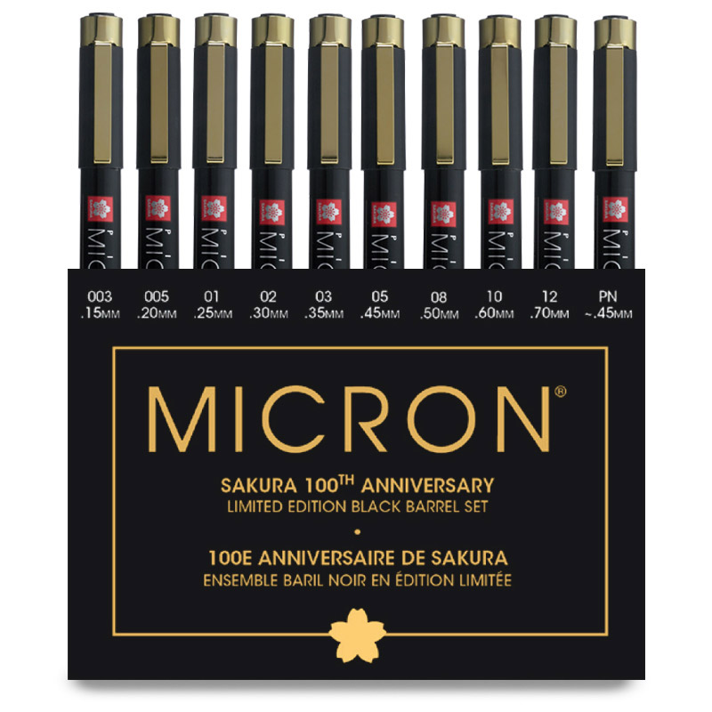 Sakura 100th Anniversary Pigma Micron 10pc Set