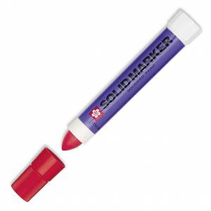 Solid Marker, Solidified Paint Stick - Red