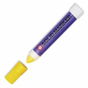 Solid Marker, Solidified Paint Stick - Yellow