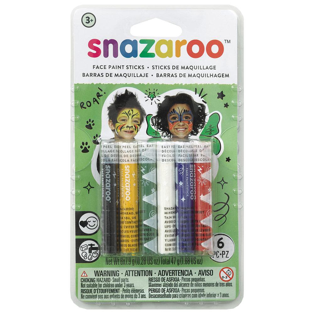 Snazaroo Face Painting Sticks 6-Color Set