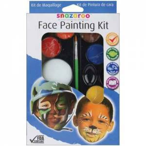 Snazaroo Face Painting Kit for Boys (Includes Instruction Guide)