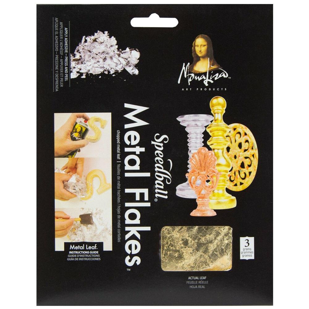 Mona Lisa Metal Flakes 3g - Gold