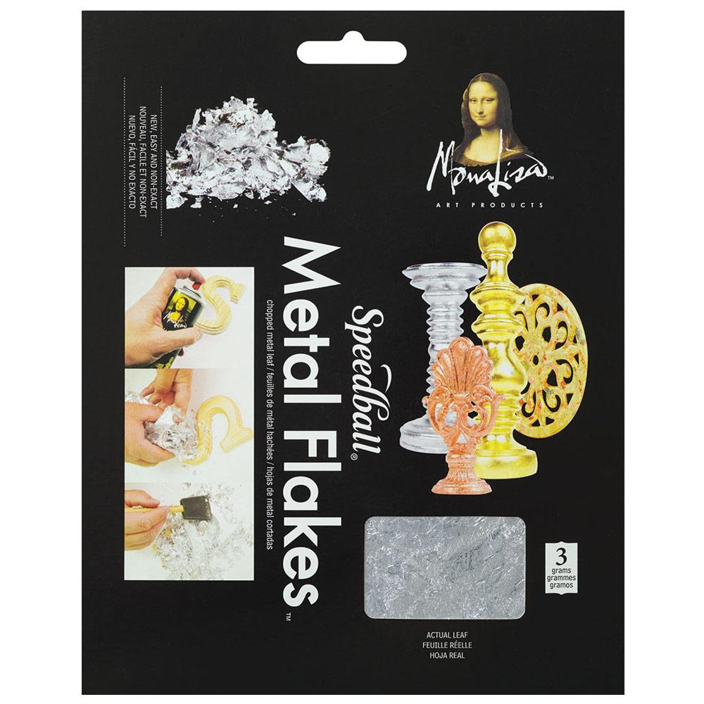 Mona Lisa Metal Flakes 3g - Silver