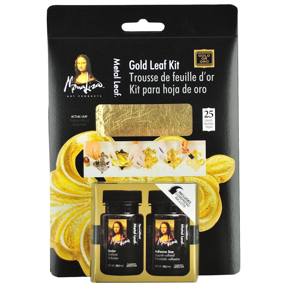 Mona Lisa Gold Leaf Authentic Metal Leaf Technique Kit