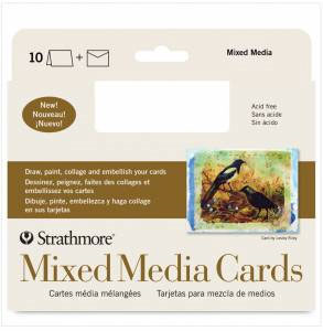 Mixed Media Cards - 3.5x 4.875 Pack of 10