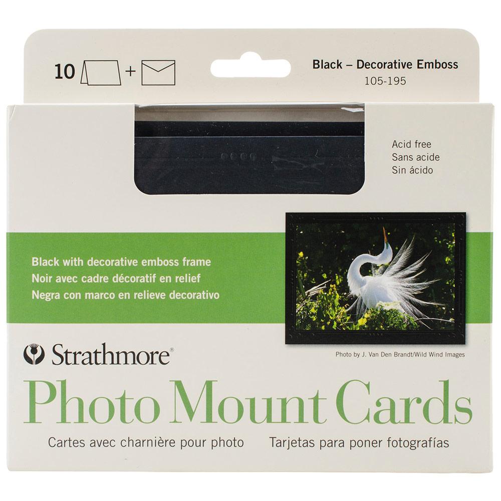 "Photo Mount Cards 10pk, 5"" x 6.875"" - Black"