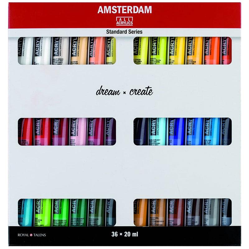 Amsterdam Acrylics 20ml Tubes 36 Colors Set